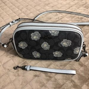 Coach Crossbody Clutch With Flowered Detail NWOT